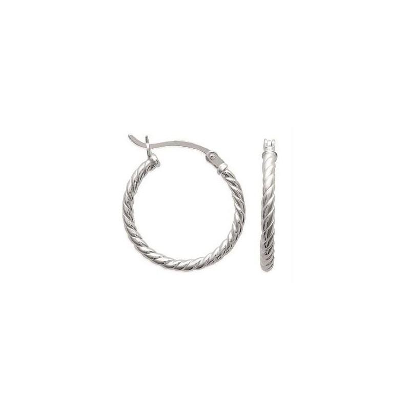 Créoles torsadées en argent 2 cm pour femme - Tchin - Lyn&Or Bijoux