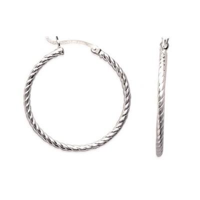 boucles d'oreilles créoles torsadées en argent, 3 cm