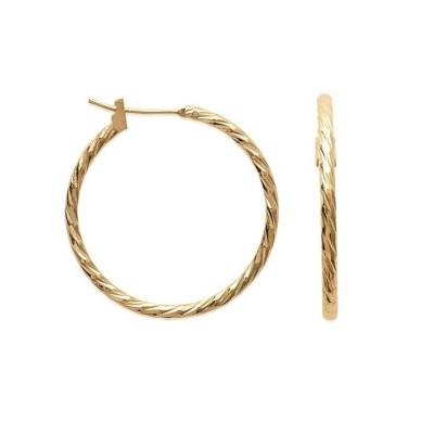 Créoles plaqué or torsadées 30 mm, fil 2 mm pour femme - Tchin - Lyn&Or Bijoux