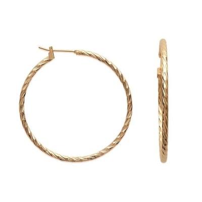 Créoles plaqué or torsadées 40 mm, fil 2 mm pour femme - Tchin - Lyn&Or Bijoux