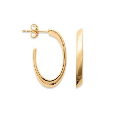 Anneau créoles en plaqué or ovales 20 mm pour femme - Lymbo