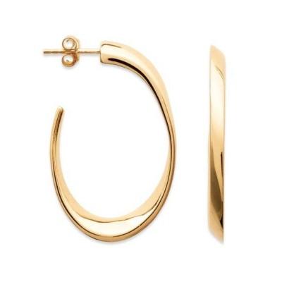 Anneau créoles ovales 40 mm en plaqué or pour femme, Lymbo
