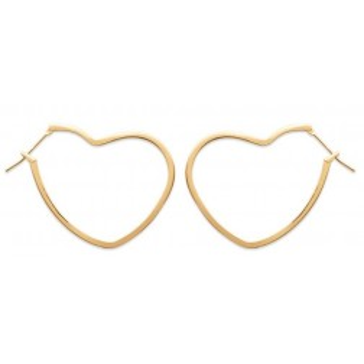 créoles coeur en plaqué or