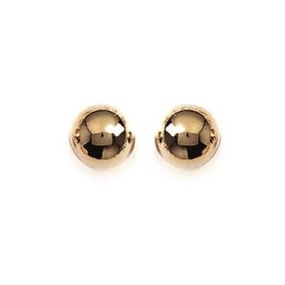 Boucles d'oreilles Perle en plaqué or, diamètre 8 mm