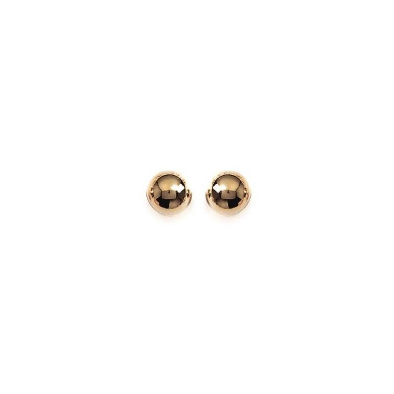 Boucles d'oreilles Perle en plaqué or pour femme - 8 mm - Lyn&Or Bijoux