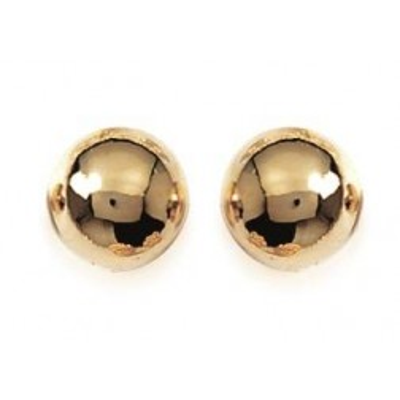 Boucles d'oreilles Perle en plaqué or, diamètre 10 mm