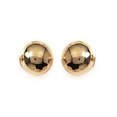 Boucles d'oreilles Perle en plaqué or pour femme - 10 mm - Lyn&Or Bijoux