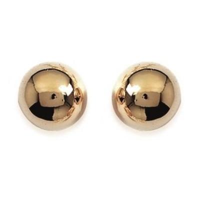 Boucles d'oreilles Perle en plaqué or, diamètre 12 mm