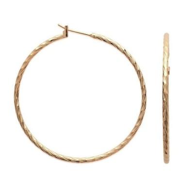 Créoles plaqué or torsadées 50 mm, fil 2 mm pour femme - Tchin - Lyn&Or Bijoux