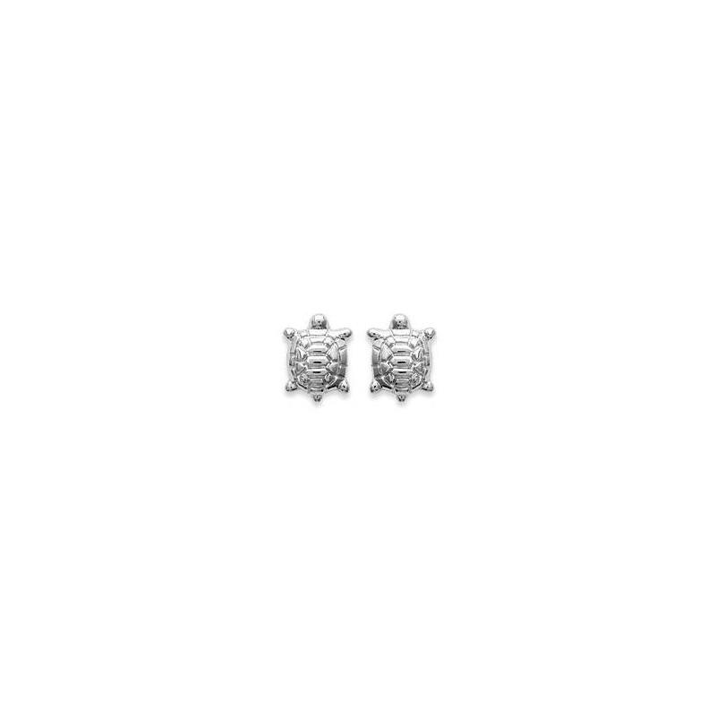 Boucles d'oreilles fillette en argent - Tortue - Lyn&Or Bijoux