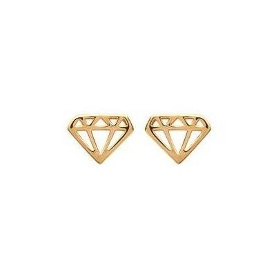 Boucles d'oreille femme & enfant en plaqué or - Diamant - Lyn&Or Bijoux