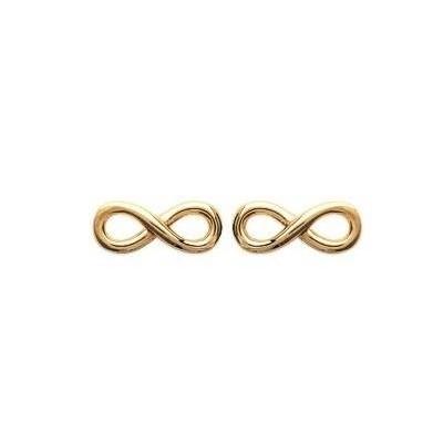Boucles d'oreilles Infini en plaqué or pour femme