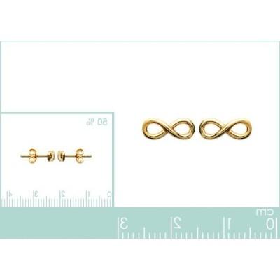 Boucles d'oreilles en plaqué or pour femme, Infini