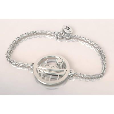 Bracelet créateur original pinasse bateau en argent 925
