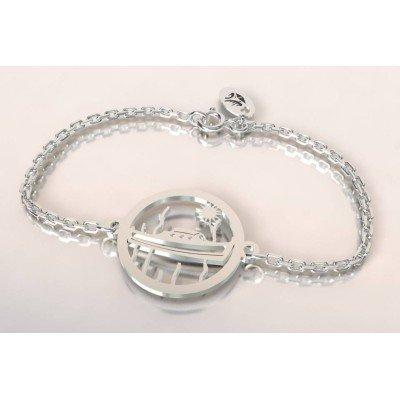 Bracelet de créateur en argent pour femme - Bateau Pinasse - Lyn&Or Bijoux