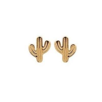 Boucles d'oreilles Cactus en plaqué or pour femme