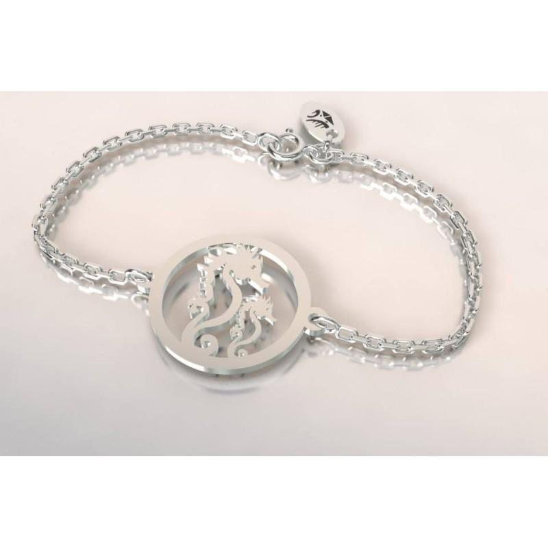 Bracelet hippocampe en argent pour femme, création CabaneTchanque