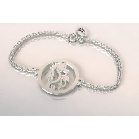 Bracelet créateur original mixte Hippocampes argent