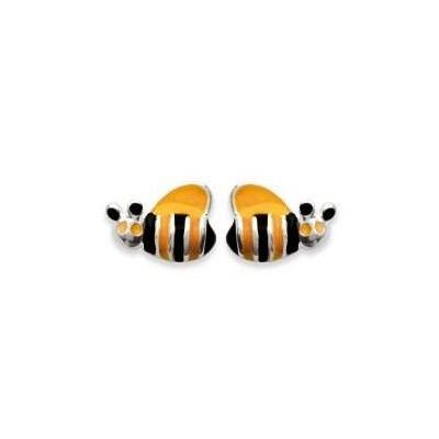 Boucles d'oreilles fillette en argent - Abeille