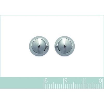 Grandes Perles en argent boucles d'oreilles puce, diamètre 10 mm