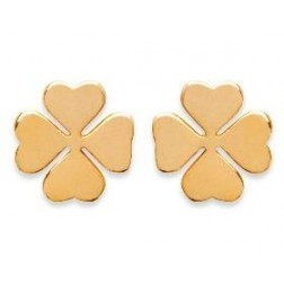 Boucles d'oreille femme & enfant en plaqué or - Trèfle - Lyn&Or Bijoux