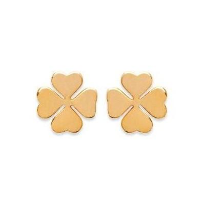 Boucles d'oreilles Trèfle à quatre feuilles en plaqué or