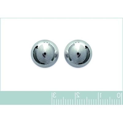 Perles d'en argent 925 boucles d'oreilles puce, diamètre 12 mm