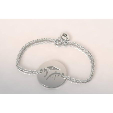 Bracelet créateur original mixte Cabane Tchanquée argent