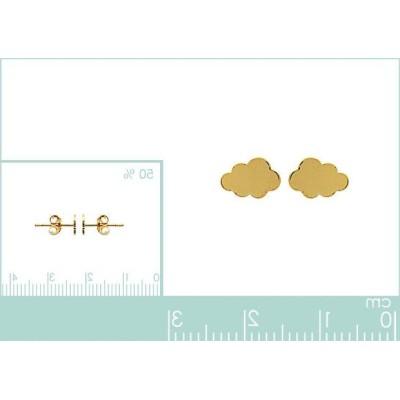 Boucles d'oreilles Nuage pour fille en plaqué or