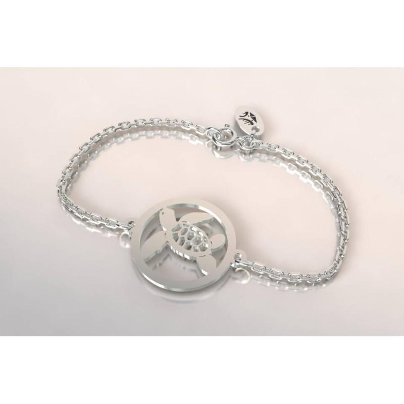 Bracelet de créateur original en argent pour femme - Tortue - Lyn&Or Bijoux