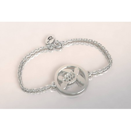 Bracelet créateur original mixte tortue argent