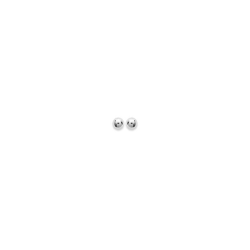 Boucles d'oreilles puces femme & enfant, Perle en argent 3 mm - Lyn&Or Bijoux