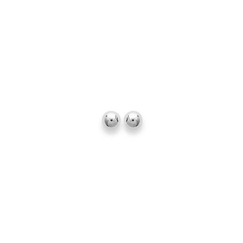 Boucles d'oreilles femme & enfant, Perle en argent 5 mm - Lyn&Or Bijoux