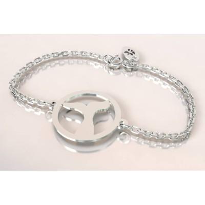 Bracelet femme en argent - Queue de Baleine - Lyn&Or Bijoux