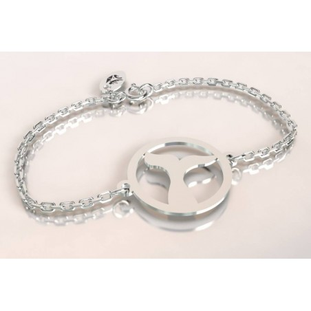Bracelet créateur en argent - Queue de Baleine