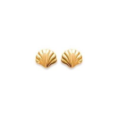 Boucles d'oreilles en plaqué or - Coquillage - Lyn&Or Bijoux
