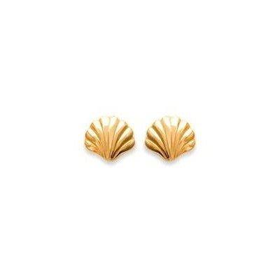 Boucles d'oreille en plaqué or - Coquillage - Lyn&Or Bijoux