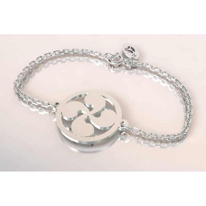 Bracelet de créateur en argent pour femme - Croix Basque - Lyn&Or Bijoux