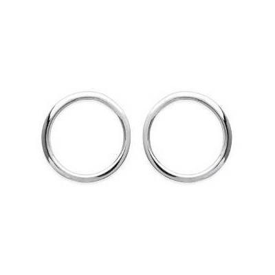 Boucles d'oreille pour femme, Cercle en argent - Athéna - Lyn&Or Bijoux