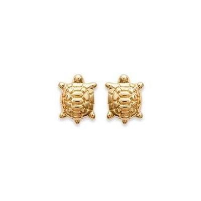 Boucles d'oreilles fillette en plaqué or 925, motif Tortue