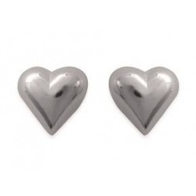 Boucles d'oreilles en argent rhodié - Coeur-battant