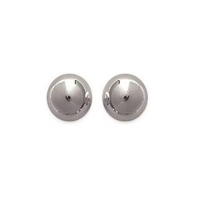 Boucles d'oreilles Perle en argent, diamètre 8 mm