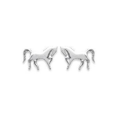 Boucles d'oreilles en argent - Cheval cabré