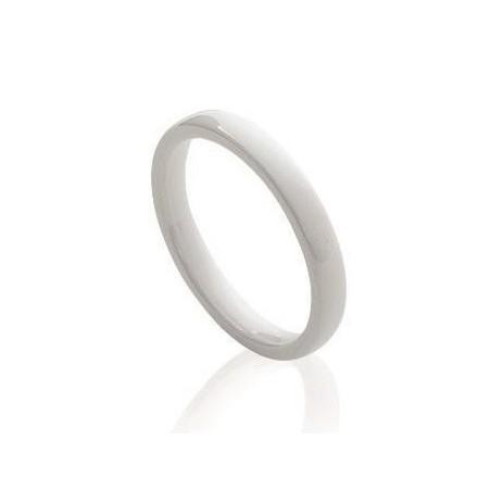 Bague anneau de céramique blanche - Sygma