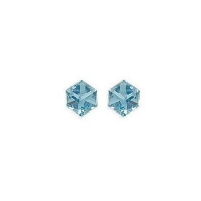 Cube en cristal pour boucles d'oreilles pour femme irisé