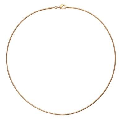 Collier câble en plaqué or pour femme - 1,6 mm