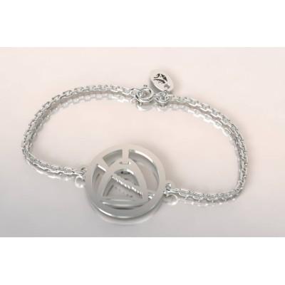 Bracelet argent thème cheval pour femme - Etrier et cravache - Lyn&Or Bijoux