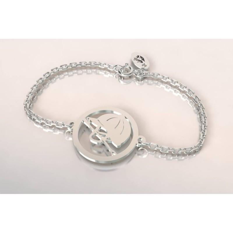 Bracelet créateur en argent pour femme - Bombe et cravache - Lyn&Or Bijoux