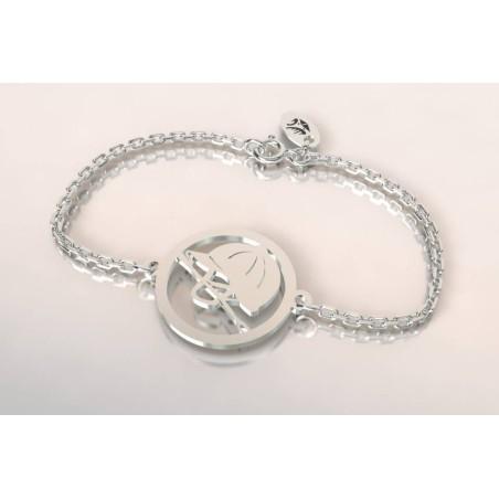Bracelet créateur bombe, cravache en argent, thème cheval