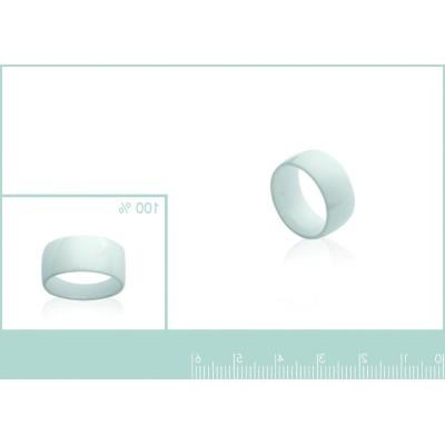 Bague anneau de céramique blanche 8,5 mm, Enora